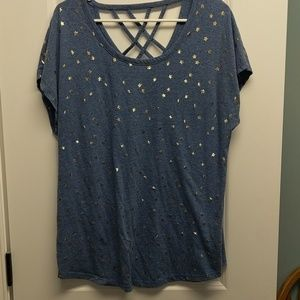 Lane Bryant blue casual top